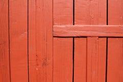 Trappe en bois rouge Images libres de droits