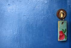 Trappe et clé. Photographie stock