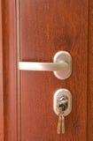 Trappe et clés à votre maison neuve Photographie stock libre de droits