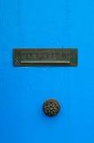 Trappe et letterbox bleus Image stock