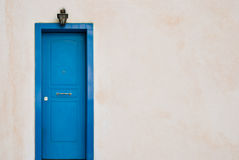Trappe grecque bleue Images stock