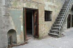 Trappe, hublot et escalier Image libre de droits