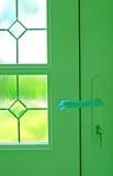 Trappe neuve, maison neuve Images stock