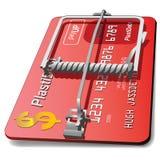 Trappe par la carte de crédit de souris Image libre de droits