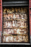 Trappe rouillée de garage Photo stock
