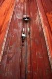 Trappe rouillée en métal Photo stock