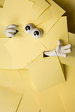 Trapped beneath paper work Stock Images