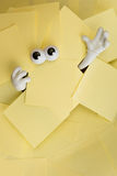 Trapped beneath paper work Royalty Free Stock Photos