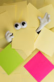 Trapped beneath paper work Stock Photography