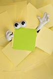 Trapped beneath paper work Stock Photos