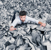 Trapped by bureaucracy Royalty Free Stock Image