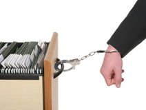 Trapped Business Man Royalty Free Stock Images