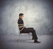 Trapped businessman Royalty Free Stock Images