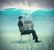 Trapped businessman Stock Photos