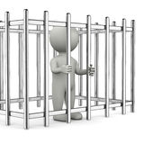 Trapped 3D Character Stock Photography