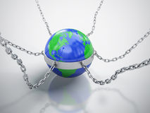 Trapped Earth. Royalty Free Stock Photography