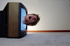 Trapped inside of the TV Stock Images