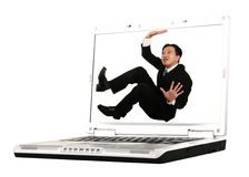 Trapped On Laptop Screen 2 Stock Photos
