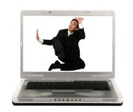 Trapped On Laptop Screen Royalty Free Stock Photography
