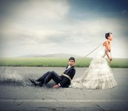 Trapped by marriage stock images