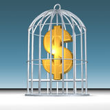 Trapped money Royalty Free Stock Photography
