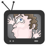 Trapped on television Stock Images