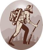 trapper för jägaregruvarbetaremalmletare royaltyfri illustrationer