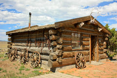 Trappers house. Old residence used by a mountain man Royalty Free Stock Image