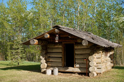 Trappers Log Cabin Stock Photo