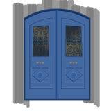 Trappes bleues illustration de vecteur