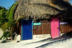 Trappes colorées dans Tulum Image libre de droits