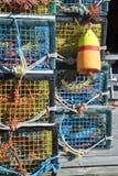 Trappes colorées de langoustine Photographie stock libre de droits