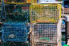Trappes colorées de langoustine Images libres de droits