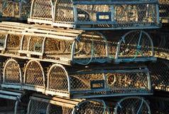 Trappes de langoustine Photo libre de droits