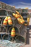Trappes de langoustine Images libres de droits