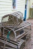 Trappes de langoustine Photos libres de droits