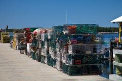 Trappes de langoustine Image libre de droits