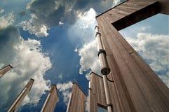 Trappes et ciel photographie stock libre de droits
