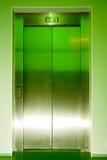 Trappes fermées d'ascenseur Photographie stock