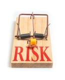 Trappola del topo di RISCHIO Fotografia Stock Libera da Diritti