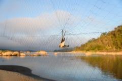 Trappola dell'uccello Fotografia Stock