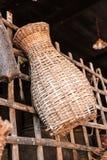 Trappola di bambù del pesce Immagine Stock Libera da Diritti