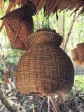 Trappola di bambù del pesce Immagine Stock