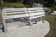 Trappola di legno dell'aragosta Immagine Stock Libera da Diritti