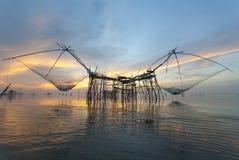 Trappola tailandese di pesca di stile Immagine Stock Libera da Diritti