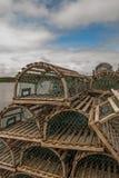 Trappole dell'aragosta Fotografie Stock Libere da Diritti