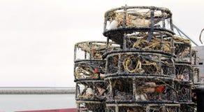 Trappole dell'aragosta e del granchio Immagini Stock Libere da Diritti