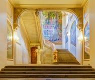 Trappuppgång av Capitole de Toulouse Arkivfoto