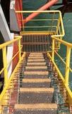 trappuppgång för drillship Arkivfoton
