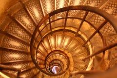 trappuppgång för dubbel spiral Arkivbild